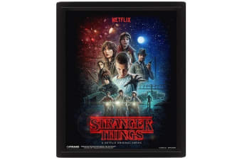 Stranger Things 3D Framed Picture (Multi-Coloured) (One Size)