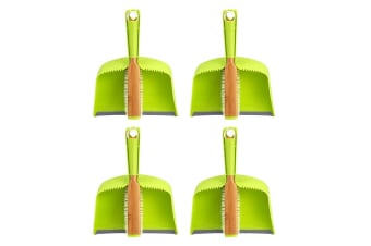 4PK Full Circle Clean Team Brush Sweeper & Dustpan Home Floor Desk Cleaning Set
