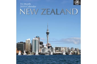 New Zealand 2019 Premium Square Wall Calendar 16 Months New Year Xmas Decor Gift