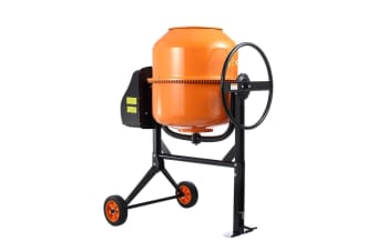 180L Portable Cement Mixer w/ Waterproof Power Motor for Concrete Stucco Mortar