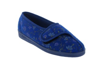Diana Comfylux / Ladies Slippers / Classic Ladies Slippers (Blue)