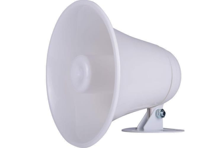 GME SPK03W 5 Watt PA Horn White  with Lead and Plug