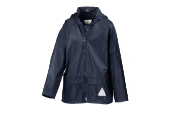 Result Childrens Unisex Heavyweight Waterproof Rain Suit (Jacket & Trouser Suit) (Navy) (XL)