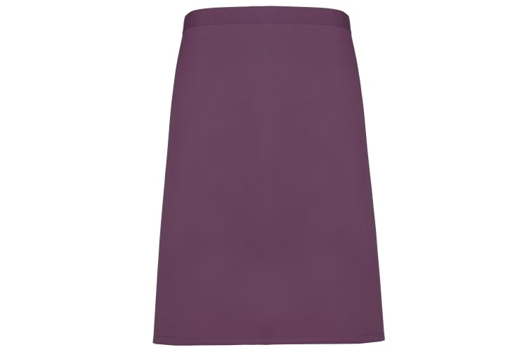 Premier Ladies/Womens Mid-Length Apron (Pack of 2) (Aubergine) (One Size)
