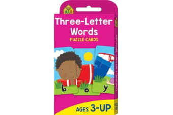 School Zone Three Letter Words Puzzle Cards (new cover)