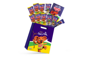 10pc Cadbury Caramello Koala Kids Showbag w/Dairy Milk Freddo Chocolate/Cards