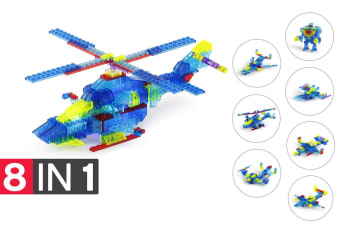 Lego Compatible MetaMorph Blocks (Light Up Helicopter)