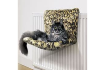Danish Design Paw Print Motif Kumfy Kradle Radiator Cat Bed (Patterned)