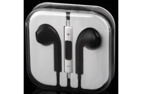 Handsfree Headphone Earphone W/ Mic For Apple Iphone 5 4 4S 3Gs Ipad Ipod Black
