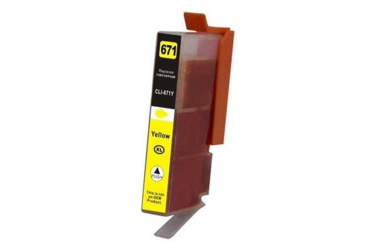 CLI-671XL Yellow Premium Compatible Inkjet Cartridge