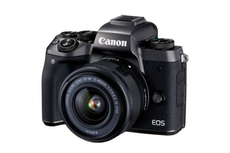 New Canon EOS M5 kit (15-45mm) Digital Cameras Black (FREE DELIVERY + 1 YEAR AU WARRANTY)