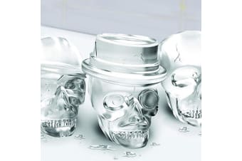 Skull Silicone Ice Moulds | With Handy Carry Tray | Set of 3