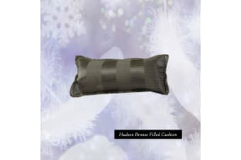 Hudson Bronze Oblong Filled Cushion by Platinum Collection