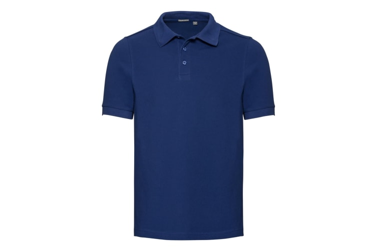 Russell Mens Tailored Stretch Pique Polo Shirt (Bright Royal Blue) (XXL)