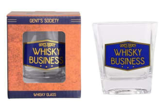 Gents Society Scotch Whiskey Whisky Glass Set of 2 Pieces Tumbler