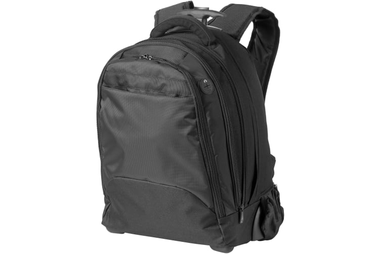 Avenue 17in Laptop Rolling Backpack (Solid Black) (37 x 19 x 49 cm)