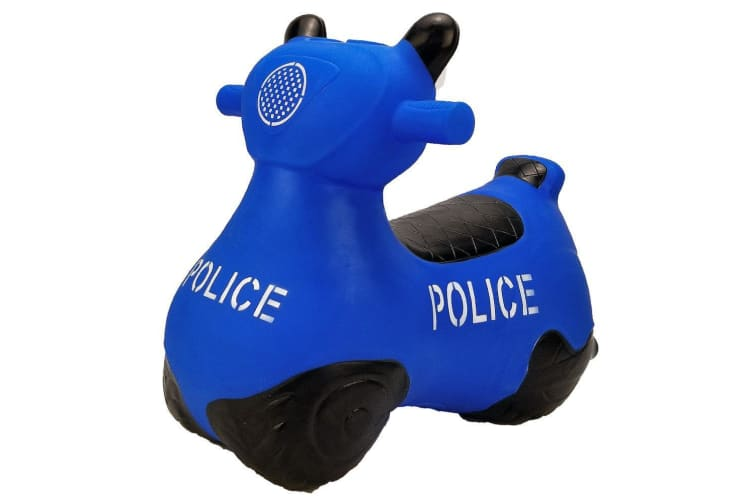 Kidi Hoppers Bouncy Rider Blue Police Scooter