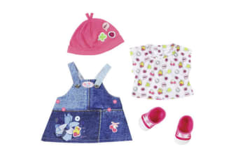 Baby Born Fashion Deluxe Jeans Collection Dress Set