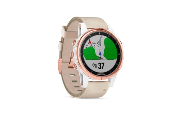 Garmin Fenix 5S Plus Sapphire Edition Rose with Beige Band