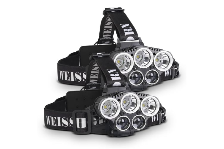 90000 LM Lumens 3 x XML CREE T6 LED Rechargeable Head Torch Headlamp Lamp Light