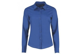 Kustom Kit Womens/Ladies Long Sleeve Tailored Poplin Shirt (Royal) (12)