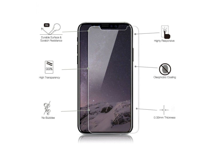 Transparent [2-Pack] For iPhone XR 9H Strong Tempered Glass Screen Protector
