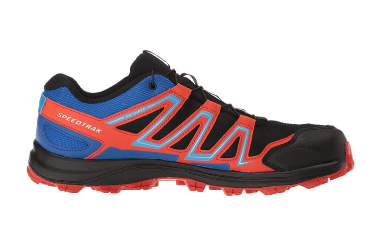 Salomon Men's Shoes Speedtrak (Black/Blue Yonder/Lava Orange, Size 10)