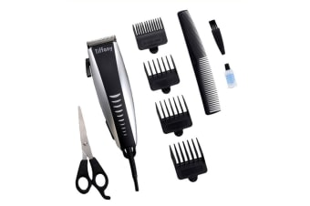 Tiffany Hair Clipper/Trimmer/Groomer Kit w/Comb/Stainless Steel Blade Scissors
