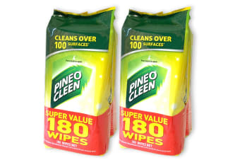 Pine O Cleen 360 Wet Wipe Lemon Lime/Multi Purpose House/Kitchen/Toilet Cleaning