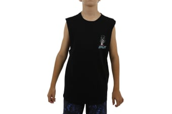 JetPilot Nuclear Youth Muscle Tank - Black - 6