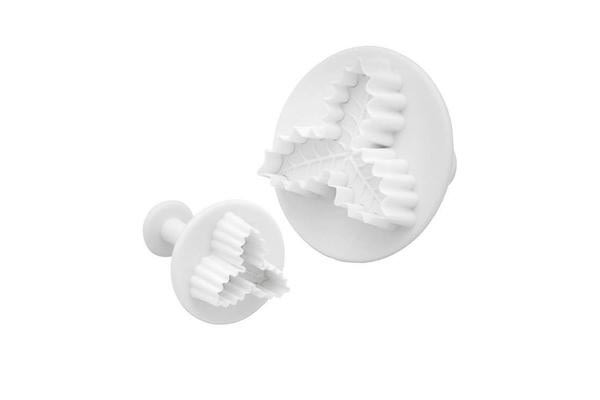 Sweetly Does It Holly Fondant Cutter Set of 2