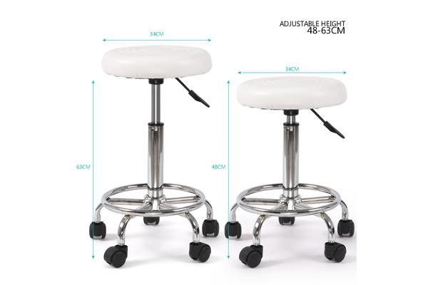 Hairdressing Salon Hydraulic Stool Barber Swivel White