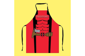 Marvel Deadpool Mens BBQ Apron - Look Like Deadpool While You Cook!