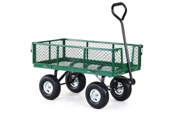 Garden Cart with Mesh Liner Lawn Folding Trolley