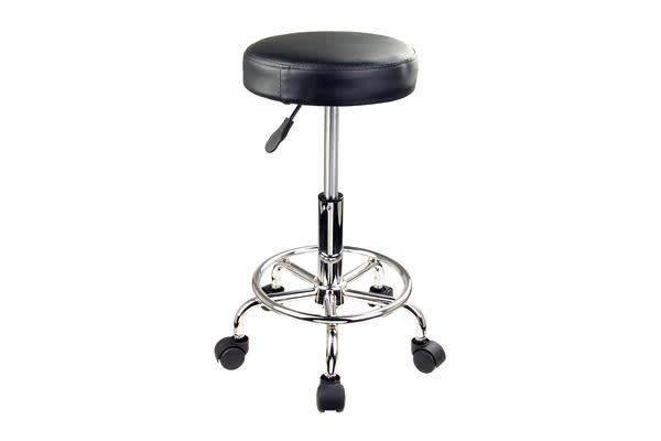 Round Salon Stool - BLACK
