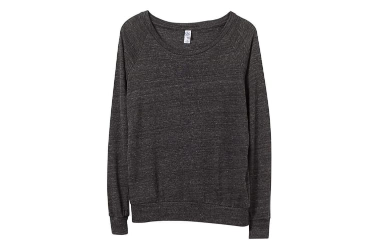 Alternative Apparel Womens/Ladies Eco-Jersey Slouchy Pullover (Eco Black) (L)