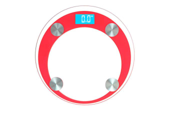SOGA 180kg Digital Fitness Weight Bathroom Gym Body Glass LCD Electronic Scales Red