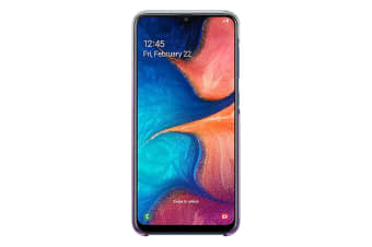 Samsung Galaxy A20 Gradation Cover - Violet