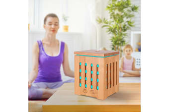200Ml Humidifier Aromatherapy Diffuser Ultrasonic 7 Colour Led - Bamboo
