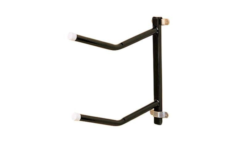 Stubbs Removable Clip-On Twin Saddle Rack (Black) (One Size)