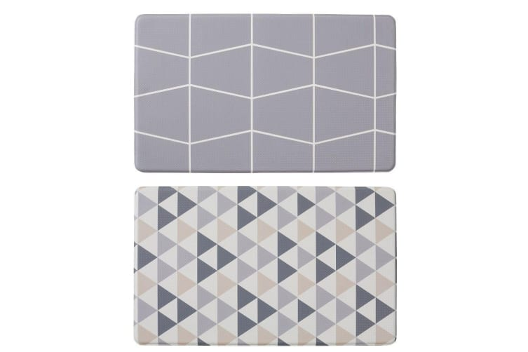 Davis & Waddell Individual Reversible Anti-Fatigue Mat Triangle and Grid