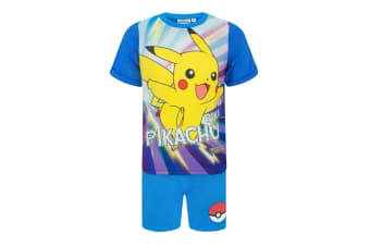 Pokemon Childrens Boys Pikachu Short Pyjamas (Blue) (3-4 Years)