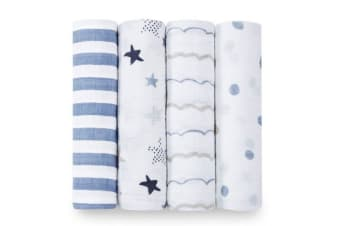 Aden + Anais rock star classic 4-pack Baby swaddle Wrap