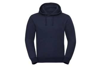 Russell Unisex Authentic Melange Hooded Sweatshirt (Indigo Melange) (XS)
