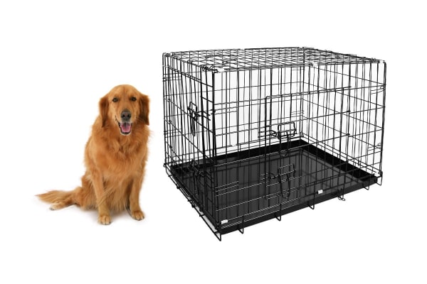 """Pawever Pets 42"""" Collapsible Metal Dog Playpen / Crate"""