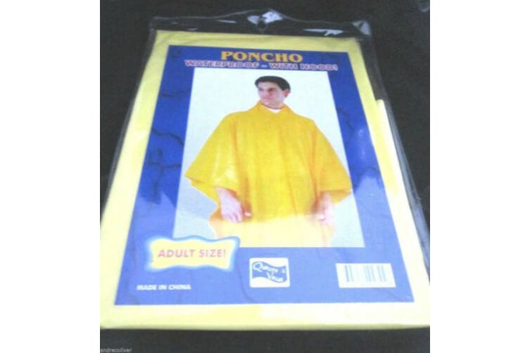 2X Reusable Emergency Rain Coat Clear Adult Raincoat Poncho Outdoors Camping