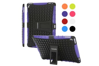 Kids Shockproof Case Heavy Duty Tough Kick Stand Cover For iPad Pro 9.7 Inch 2016-Type2-PurpleBlack