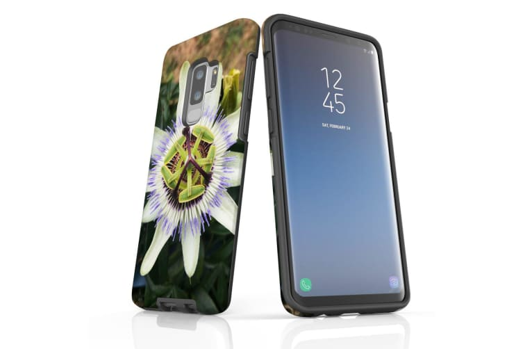 For Samsung Galaxy S9+ Plus Case Armour Cover  Blossoming Flower