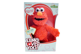 Sesame St Elmo Loves You Plush