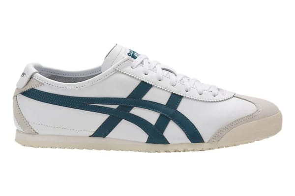 Onitsuka Tiger Mexico 66 Shoe (White/Ink Blue, Size 10)